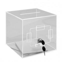 Urne de comptoir petit modèle pour élections privées - 400 bulletins - Net Collectivités