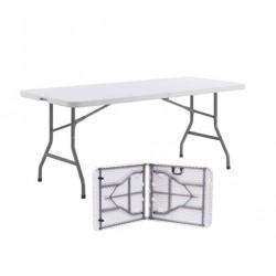 Table pliante portable en polypropylène avec poignée - Net Collectivités