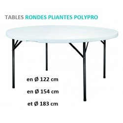 Table Ronde Polypro pliante de Net Collectivités