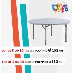 Destockage table pliante polypro ronde