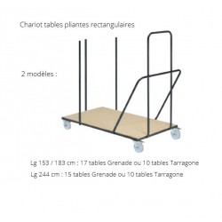 Chariot pour tables pliantes rectangles