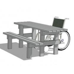 Table pique-nique PMR Azur