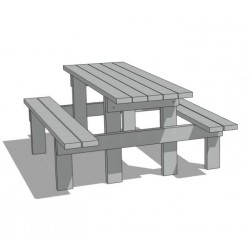 Table pique-nique Azur