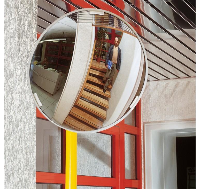 Miroir multi usages cadre blanc for Miroir cadre blanc