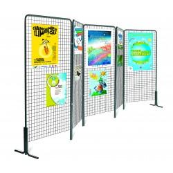 grille métallique pour exposition