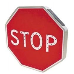 Panneau Stop autonome solaire à leds type AB4
