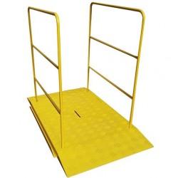 Passerelle pour chantier jaune