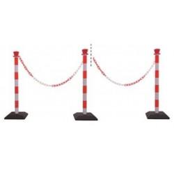 Lot de poteaux PVC de signalisation à chaîne