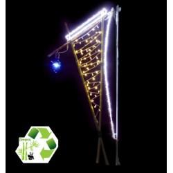 Corne d'abondance en Bambou - décoration de noël lumineuse pour candélabre
