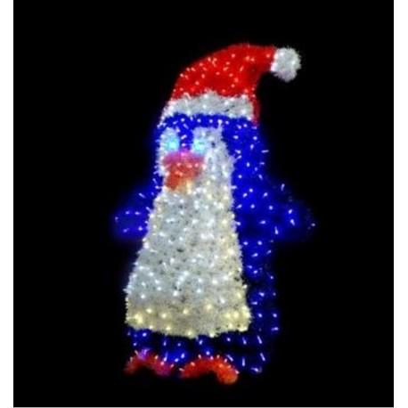 Pingouin lumineux de la banquise, Pigloo lumineux en 3D, décor de rue pour ville - Net Collectivites