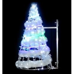 Cône Lumineux bande spirale en 3D - Décor pour poteau - illumination de Noël pour mairie - Net Collectivités