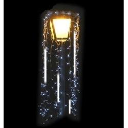 Décor lumineux Nuisette chute de neige animée pour Lanterne lampadaire - illuminations de Noël pour communes - Net Collectivités