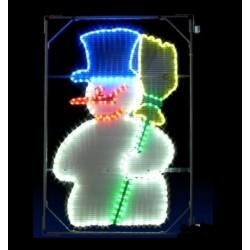 Décor lumineux Figurine Bonhomme de Neige pour Poteau lampadaire - acheter une illumination de noel pour rue - Net Collectivités