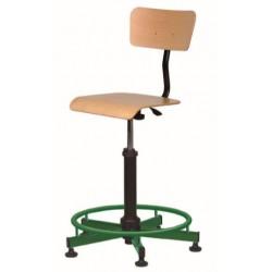 Chaise technique réglable avec repose pieds Julia