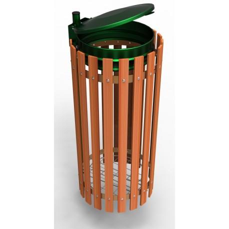 support sacs poubelles entourage bois. Black Bedroom Furniture Sets. Home Design Ideas