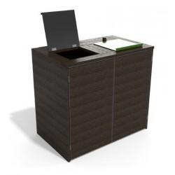 Abri cache conteneur roulant en recyclé