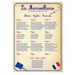 Affiche PVC rigide d'intérieur la marseillaise - Loi Blanquer