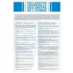 Affiche de la Déclaration Universelle des Droits de l'Homme