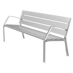 Banc en aluminium gris