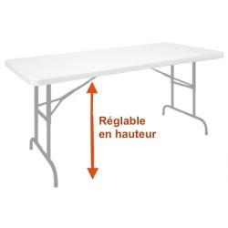 Table à Hauteur Réglable et pliante - Net Collectivités