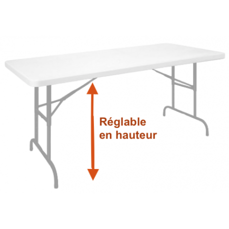 Table Pliante Reglable En Hauteur Table A Hauteur Modulable