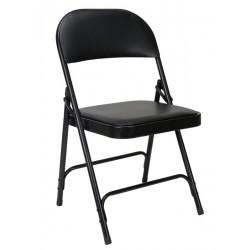 Lot de 6 chaises pliantes en acier et en vinyle