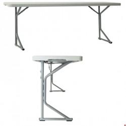 Table comptoir pliante vue de face et profil