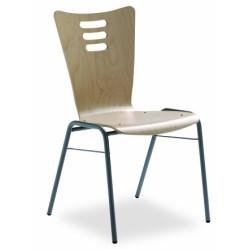 Chaise coque bois de hêtre aux multiples possibilités