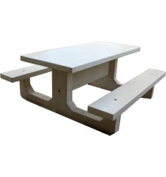 Table Pique Nique Béton Rectangulaire