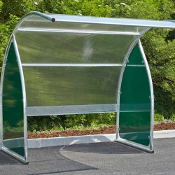 Abri en polycarbonate transparent