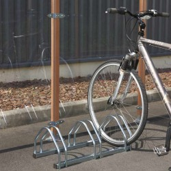 Râtelier pour 3 vélos en acier galvanisé