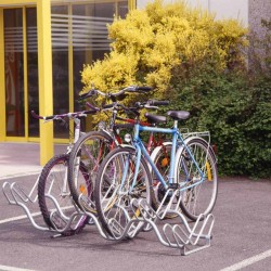 Atelier pour 6 vélos, acier galvanisé, 2 niveaux, ondulé