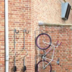 Rangement du vélo à la verticale
