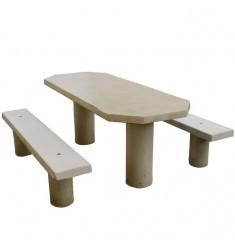 Table Pique Nique Ovale Béton