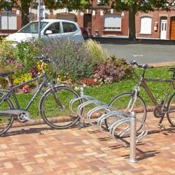 Râtelier pour vélos en acier et fonte