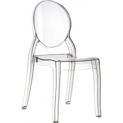 Chaise transparente Catherine en polycarbonate