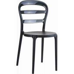 Très belle chaise noire en polypro