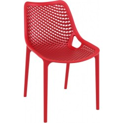 Chaise empilable rouge