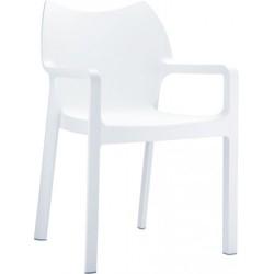 Fauteuil blanc en polypro pour aménager vos espaces de réception