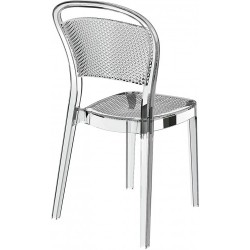 Chaise transparente très moderne en polycarbonate