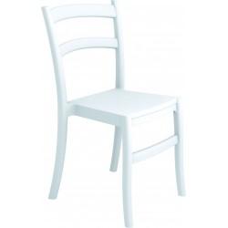Chaise blanche en polypro et fibre de verre