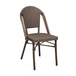 Chaise en textilène et en bambou pour extérieur et intérieur