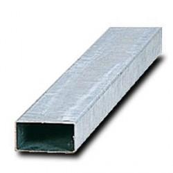 Poteau rectangulaire pour panneau de circulation en acier galvanisé 80 x 40 mm