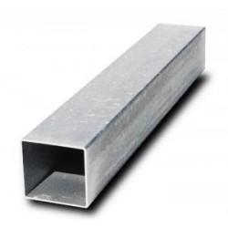 Poteau carré pour panneau de circulation en acier galvanisé 80x80mm