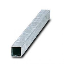 Poteau carré acier galvanisé pourpanneau routier 40x40mm