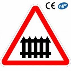 Panneau de signalisation passage à niveau manuel (A7)