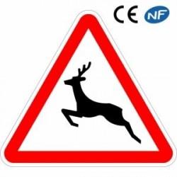 Panneau routier passage d'animaux sauvages (A15b)