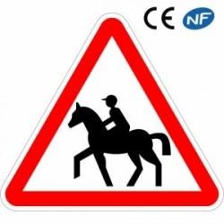 Panneau routier passage de cavaliers (A15c)