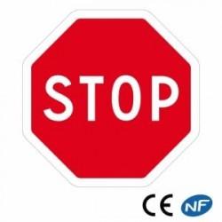 Panneau decirculation STOP obligatoire (Ab4)