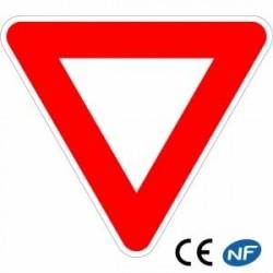 Panneau routier en alu CÉDEZ LE PASSAGE (Ab3)
